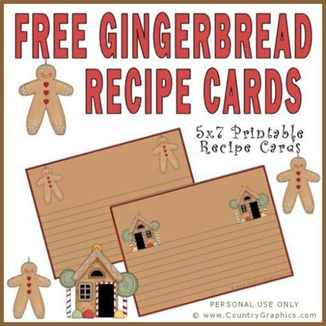 printable gingerbread man recipe free gingerbread recipe cards country graphics