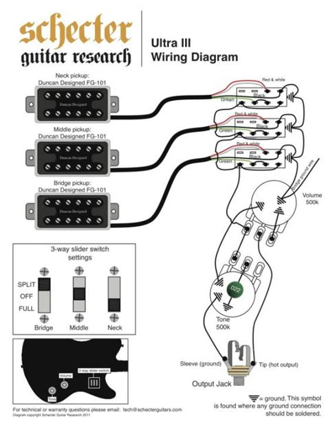 wiring for schecter ultra iii p rails content