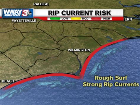 Rip Report by Area Beaches Report Several Rescues Due To Rip Currents Wway Tv