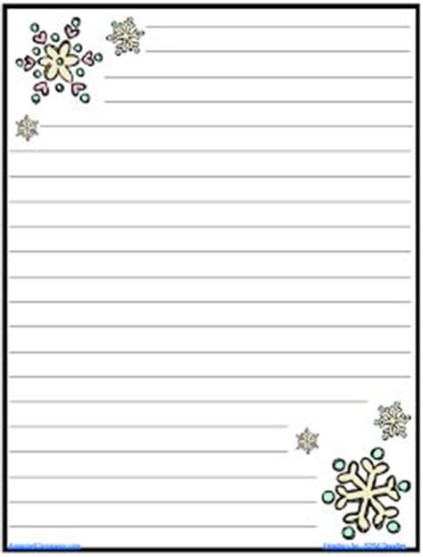 lined paper with snowflake border free christmas writing paper with border 5 best images