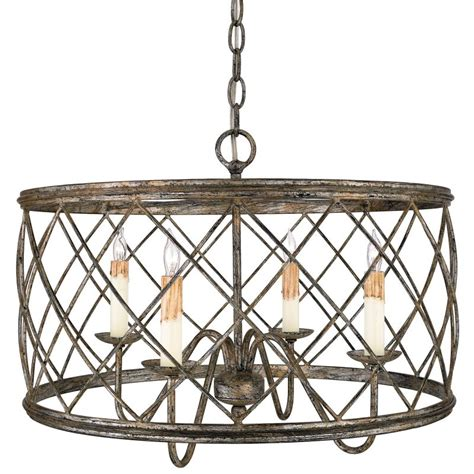 Metal Drum Chandelier Quoizel Rdy2821cs Century Silver Leaf Dury 4 Light 21 Quot Wide Drum Chandelier With Metal Cage