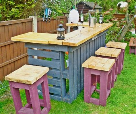 outdoor bar tops necessary outdoor bar made from old pallets and scrap