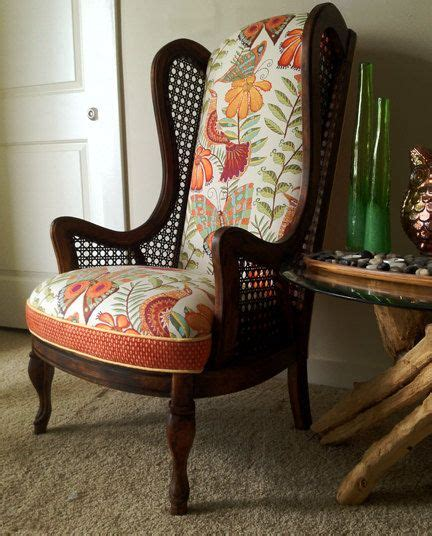 diy wingback chair upholstery themegan funky cane wingback chair by bellishlimited on