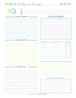 printable to do list half page personal planner free printables