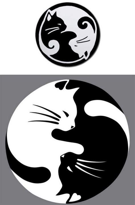 Bedeutung Schwarze by Katzen Ideen Vorlage Yin Yang Weisse Schwarze Katze
