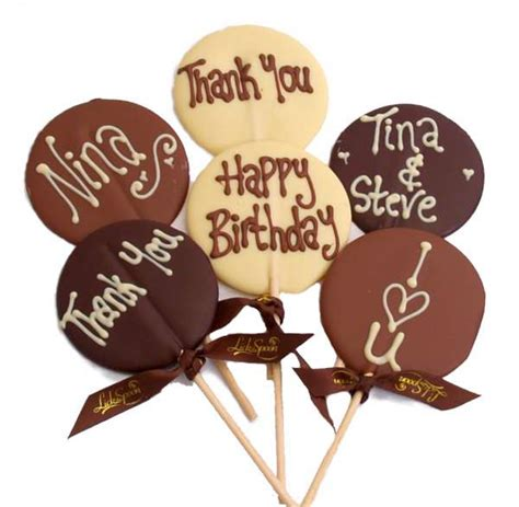 personalised chocolate lollipop lick the spoon