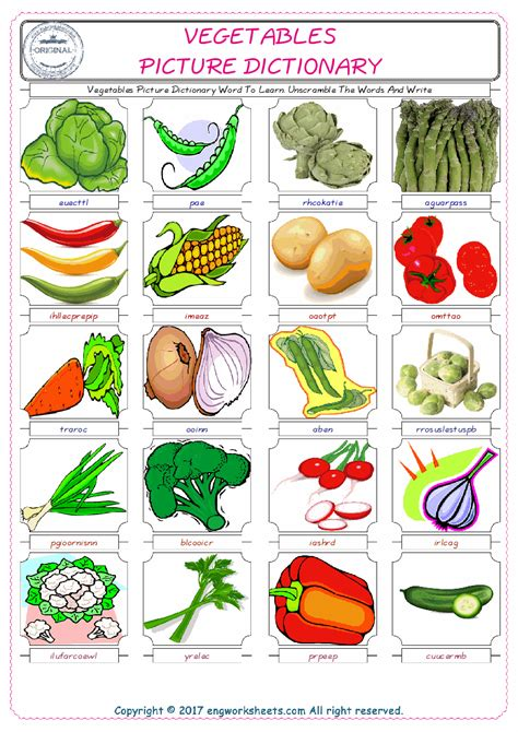 fruit unscramble vegetable unscramble