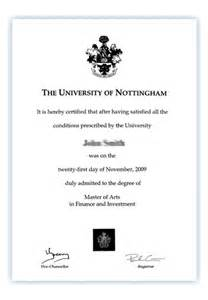 masters degree certificate template your degree certificate the of nottingham