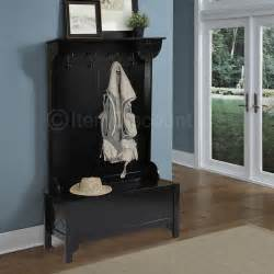 Entryway Shoe Storage Bench Coat Rack wood entryway mudroom tree shoe storage bench hat coat rack stand organizer ebay