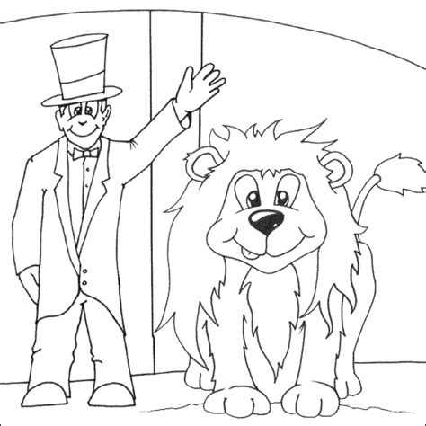 circus lion coloring pages lion tamer coloring page free colouring pages