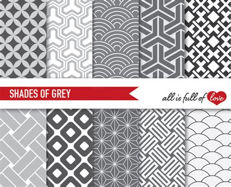 grey japanese wallpaper digital graphics japanese paper pack shades of grey