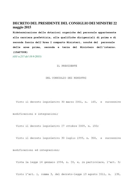 decreto presidente consiglio dei ministri decreto presidente consiglio dei ministri 22