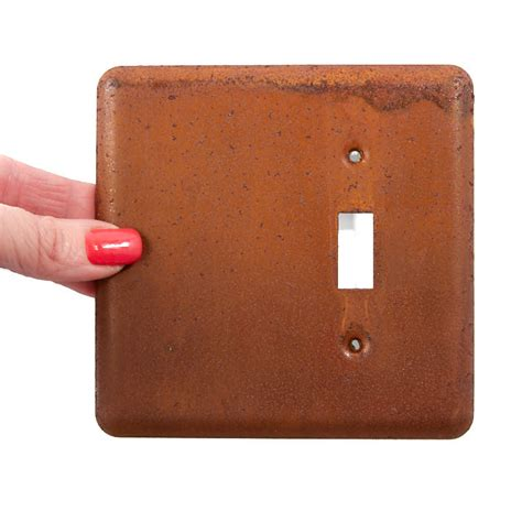 steunk light switch cover primitive rusty tin light switch plate cover primitive