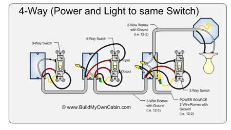 3 way wiring diagram with 4 lights 4 way electrical