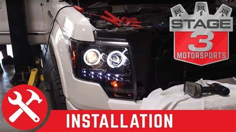 2012 f150 hid install youtube 2009 2014 ford f 150 recon halo headlight install youtube