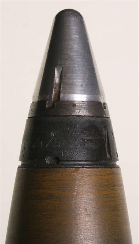 german u boat deck guns inert ww2 german 88mm u boat deck gun shell shell head is