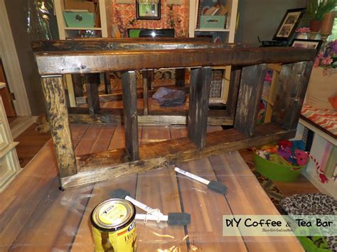 How To Make A Bar Shelf by Create A Simple Coffee Tea Bar In Your Kitchen Diy