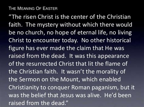 what is significance of easter the meaning of easter