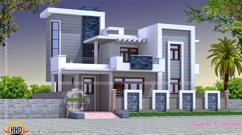 home design 2000 square feet in india contemporary style beautiful home kerala home design and