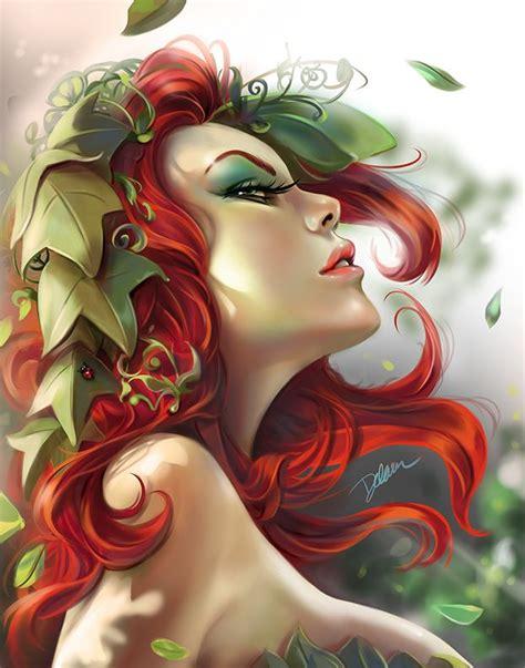 beautiful art pictures poison ivy pinup portrait fanart by cris delara