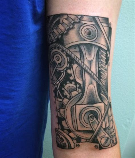 engine parts tattoo designs 60 piston designs for unleash high horsepower