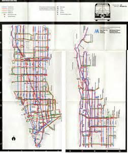Bus Map New York by 1974 Manhattan Bus Map Manhattan New York Mappery