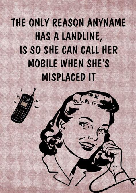 mobile phone jokes joke retro mobile phone landline birthday card