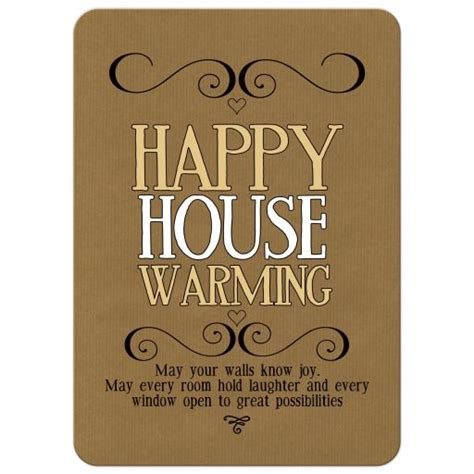 House Warming by Happy Housewarming Wishes Card
