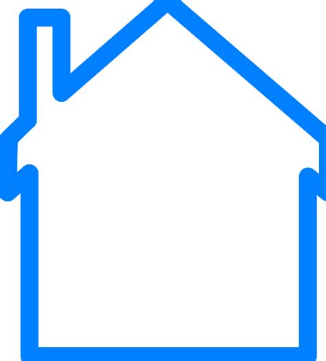 Free House Outline Image by Blue House Outline Clip Vector Clip Royalty Free Clipart Best Clipart Best
