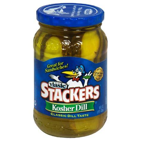 kosher pickles vlasic stackers pickles kosher dill