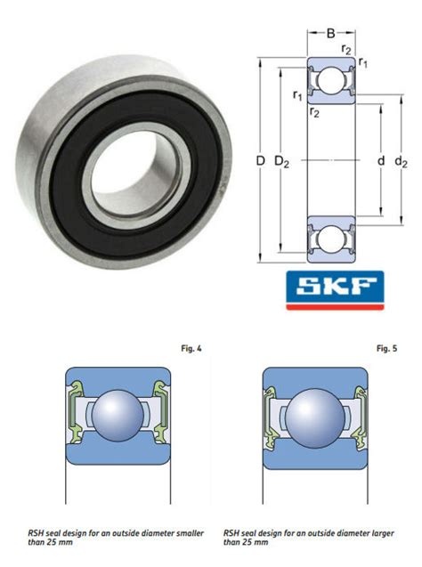 Bearing 6202c3 Skf 6202 2rsh c3 skf trailer bearings groove