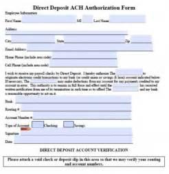 5 generic direct deposit form templates formats