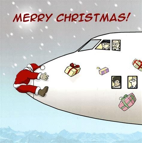 christmas airplane jokes card santa and the aeroplane twizler comedy card company
