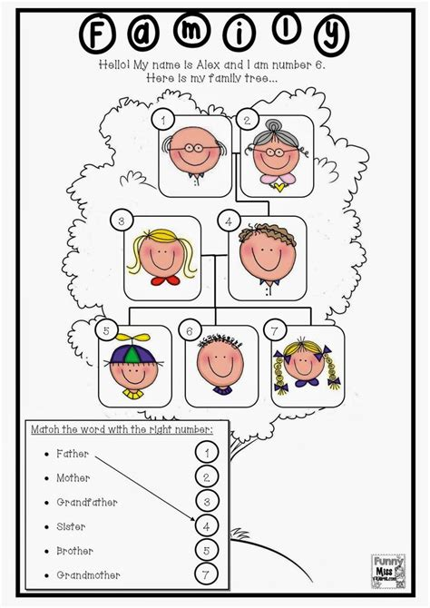 Family Tree Worksheets by 33 Best Images About Family On About Family