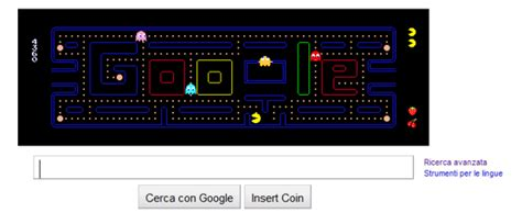 pacman doodle logo diventa gioco per il trentesimo anniversario dalla