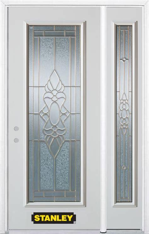 Stanley Exterior Doors Stanley Doors 48 In X 82 In Lite Pre Finished White Steel Entry Door With Sidelite And