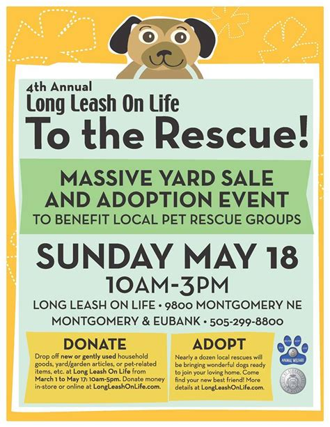 adoption flyer template to the rescue yard sale and adoption event nmdog