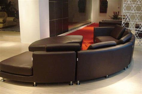 round sofas sectionals modern round leather sectional sofa a94 leather sectionals