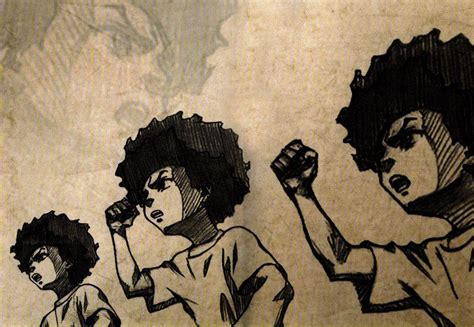 black wallpaper with the power huey freeman wallpapers wallpaper cave