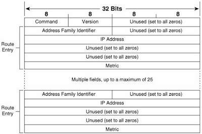 format pengiriman paket belajar routing internet rip dan ospf