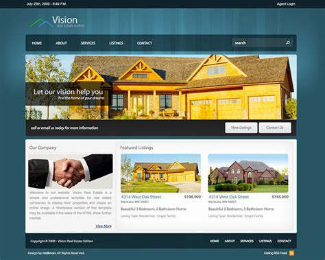 20 Best Real Estate Web Design Templates Web Design Idesignow Real Estate Company Website Template