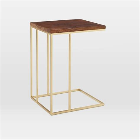 elm c table grid frame side table elm