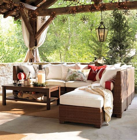 Outdoor Living Room Furniture For Your Patio Designing Outdoor Living Room W Palmetto Sectional By Pottery Barn Modern Outdoors