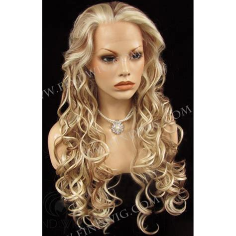 blonde highlighted wigs highlighted wig wavy blonde highlighted long wig wigs online