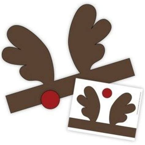 Printable Reindeer Headband | printable reindeer antler headband preschool items