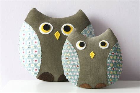 Handmade Owl Cushion - handmade owl cushion with pocket by berry apple
