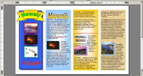 How To Make A Travel Brochure With Paper - untitled document www2 powayusd