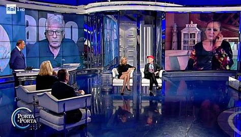 porta a porta matera justine mattera 232 polemica per look in tv a porta a
