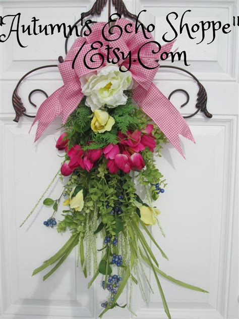 floral door swagwreath alternative door decor