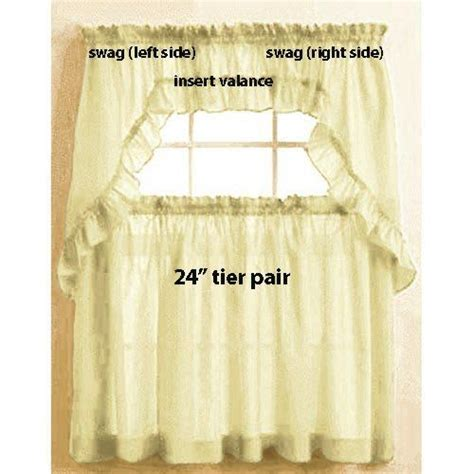 yellow swag curtains maize yellow tailored stacey 24 quot tier curtain pair by